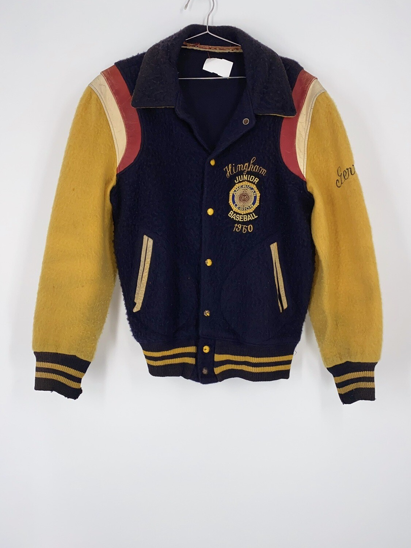 Junior Baseball Wool Varsity Jacket Size M