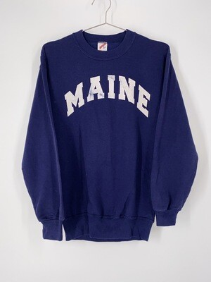 Navy Maine Crewneck Size M