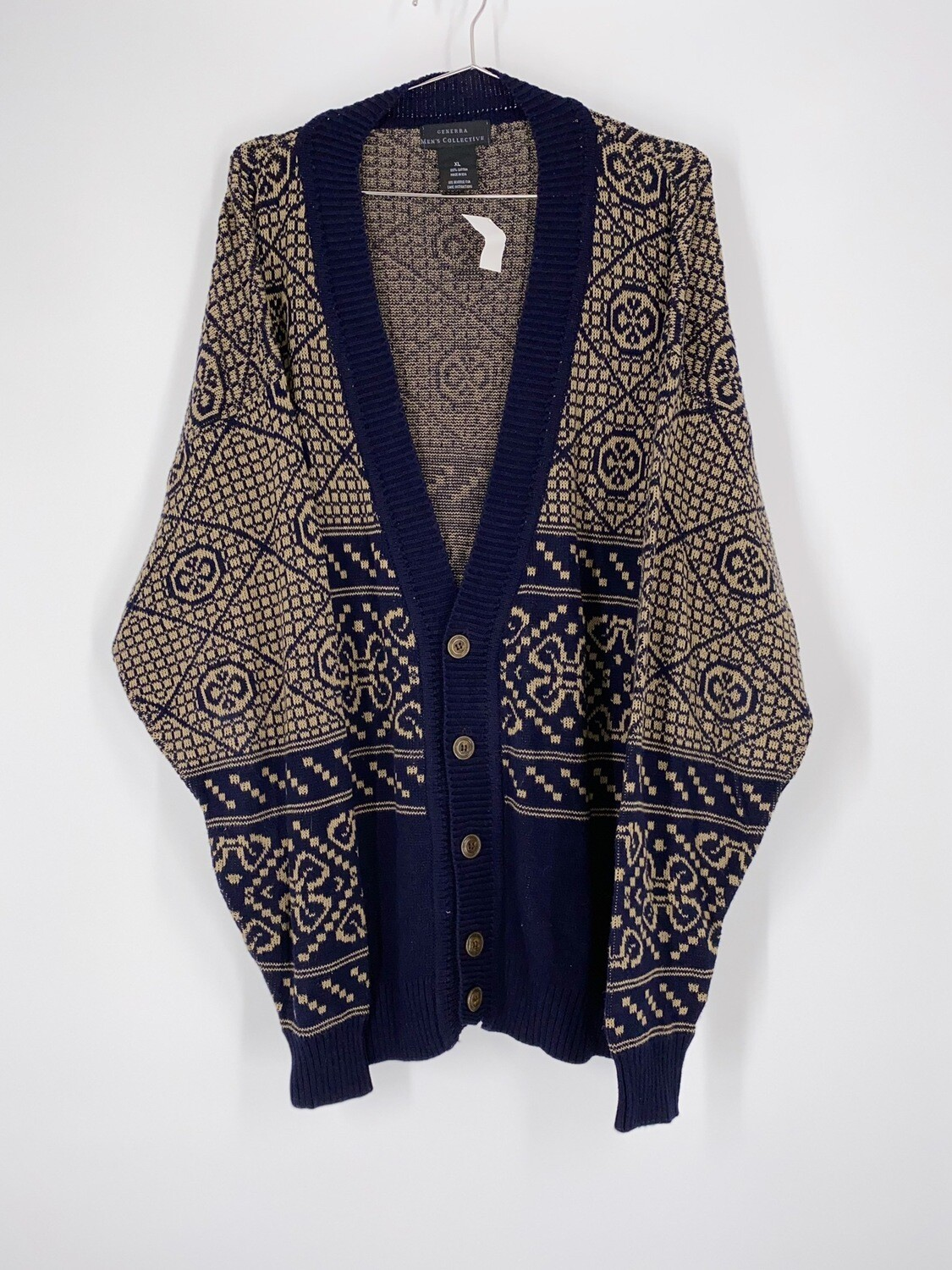 Generra Patterned Cardigan Size L