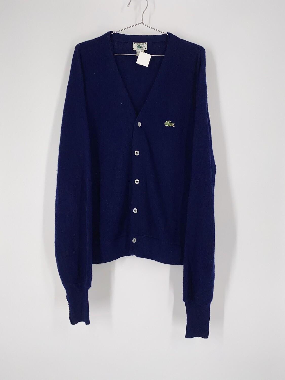 Izod Lacoste Navy Cardigan Size M