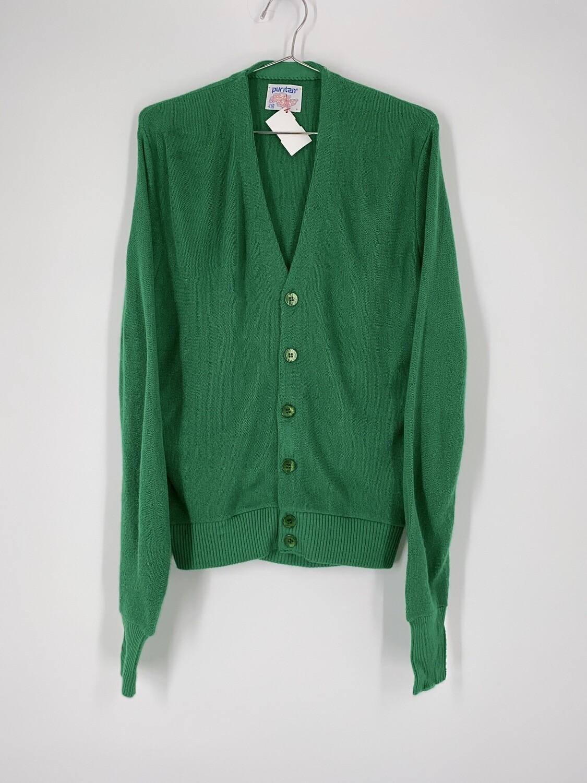 Puritan Green Cardigan Size S
