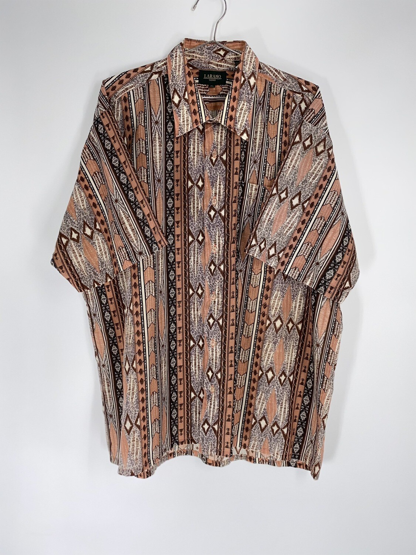 Larano Tribal Print Button Down