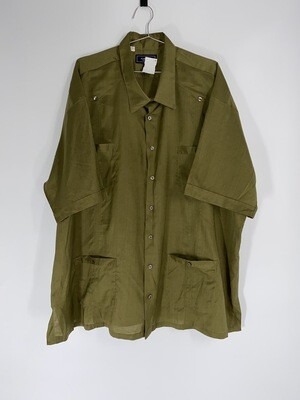 Fumagalli's Olive Green Button Down Size L