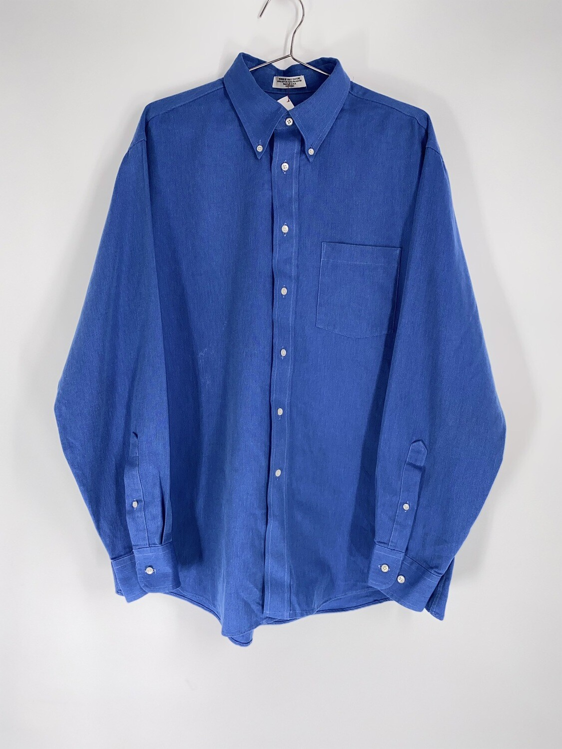 Arrow Blue Long Sleeve Button Down Size M