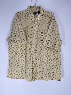 Gianni Vitorio Patterned Button Down Size L