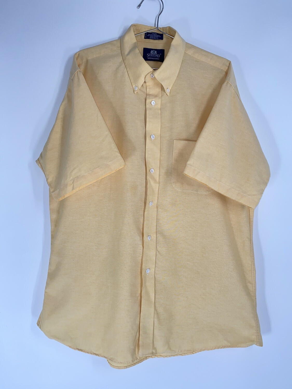 Stafford Yellow Button Down Size L
