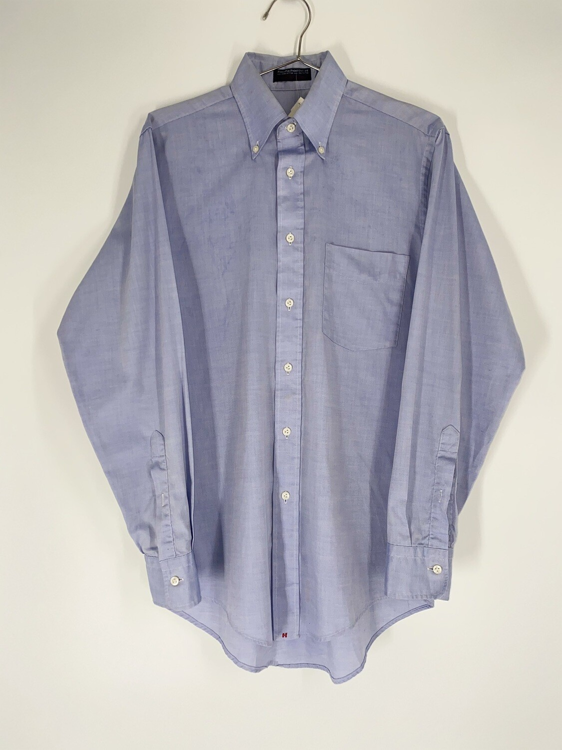 Pima Pin Point Blue Button Down Size S