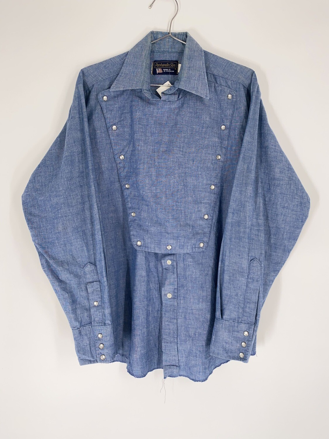 Panhandle Slim Blue Chambray Button Up Size M