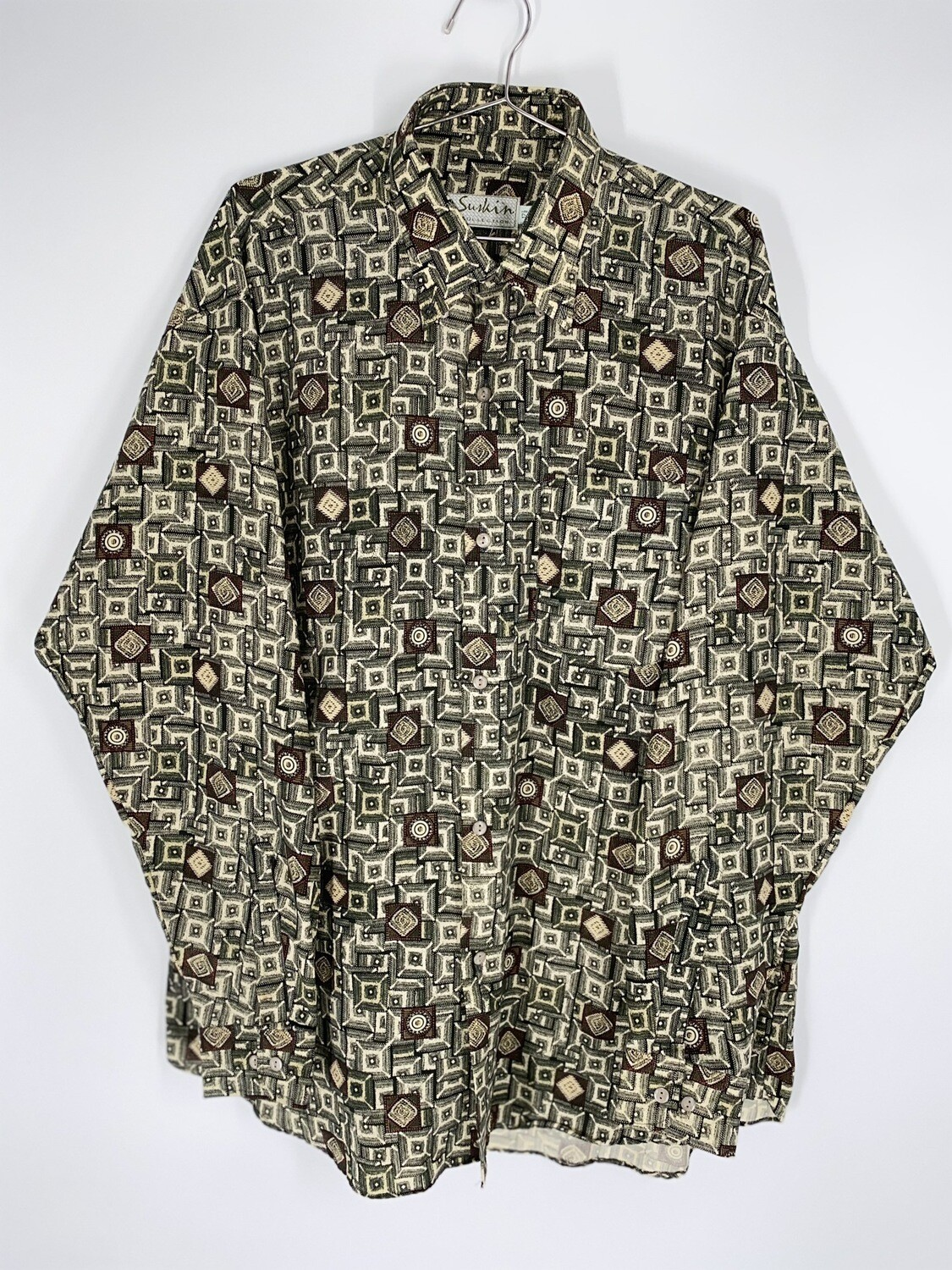 SK Collection Retro Print Button Down Size L