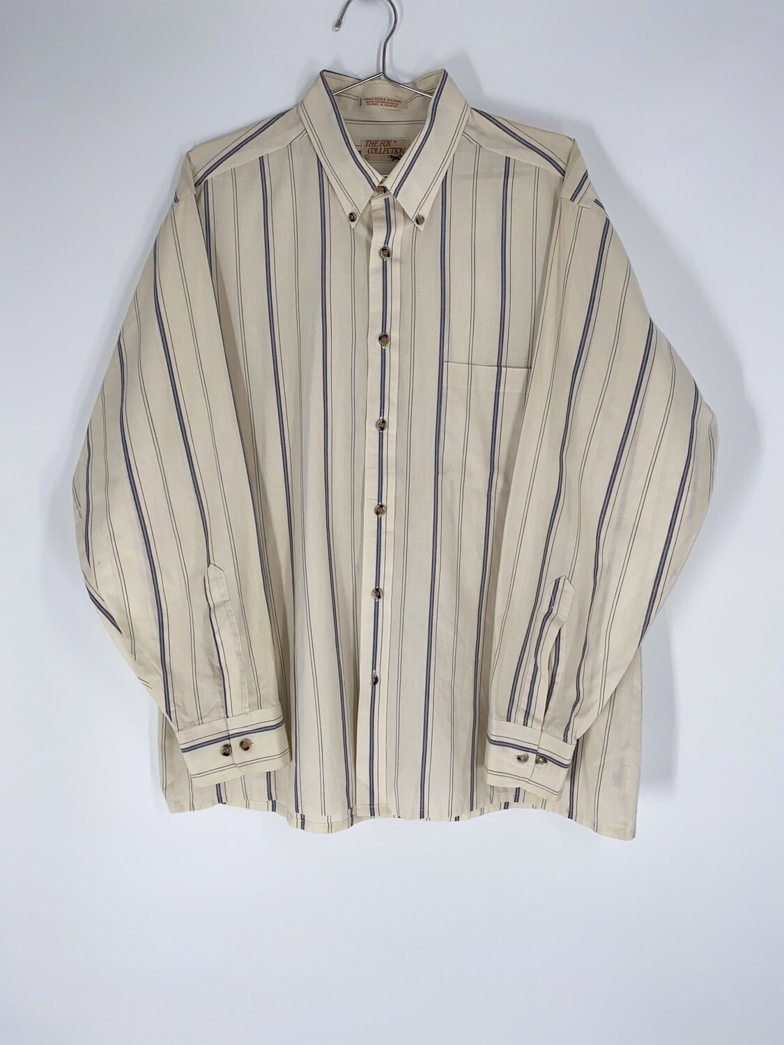 The Fox Collection Stripped Button Down Size L