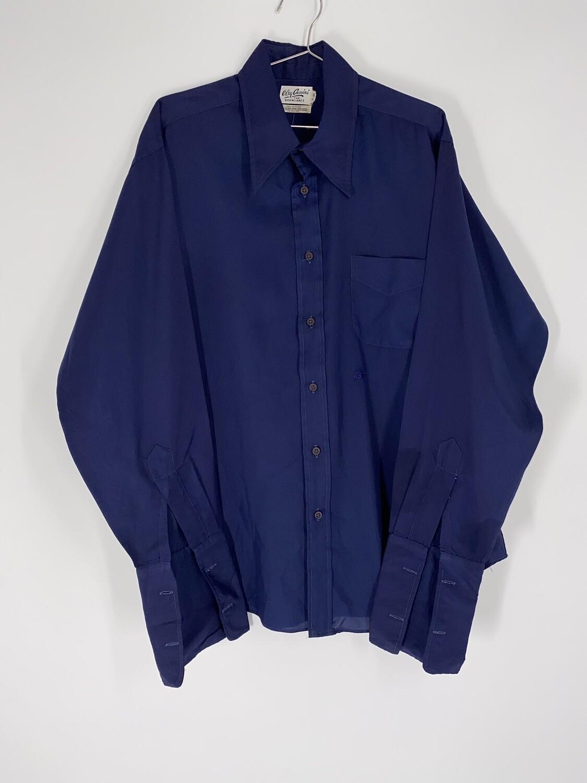 Oleq Cassini Navy Blue Button Up Size M