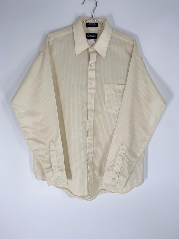 Luxurata Pinstripe White Button Down Size L
