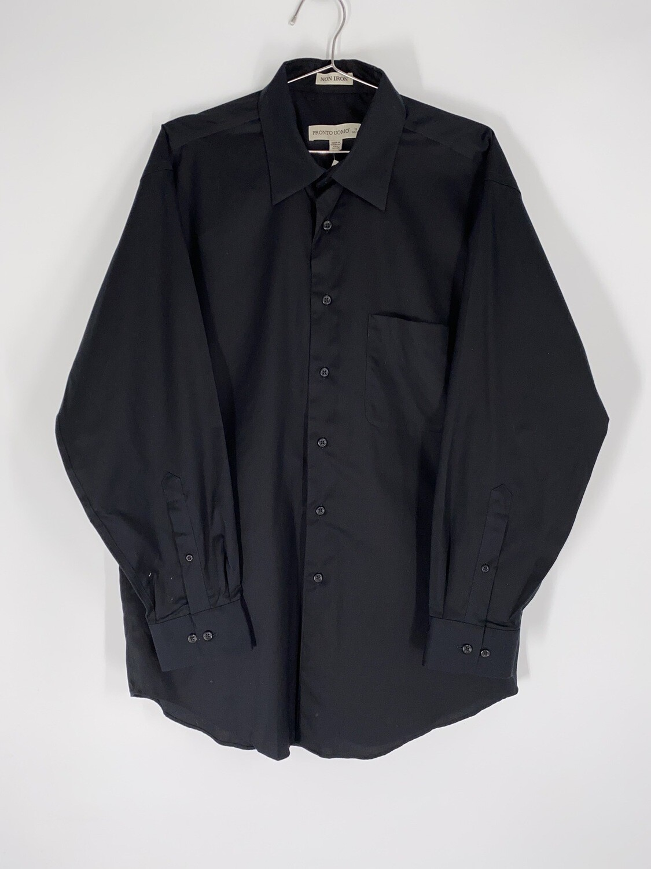 Pronto Uomo Black Button Up Size M