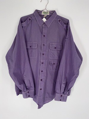 American Eagle Outfitters Purple Cargo Button Up Size M