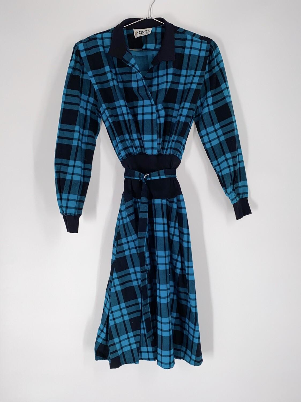 Seneca Plaid Belted Dress Size S