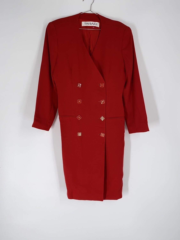 Tahari Cross Back Dress Size L