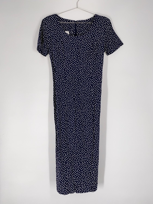 Polka Dot Tie Back Dress Size M