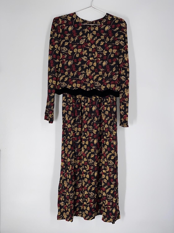 Leaf Print Dress Size M