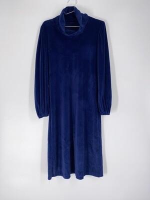 Blue Velvet Turtleneck Dress Size M
