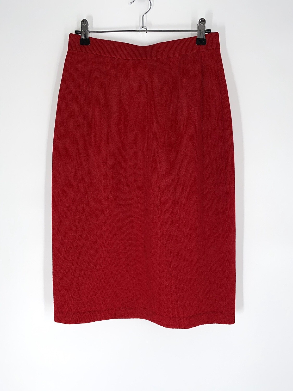 Red Knit Skirt Size S