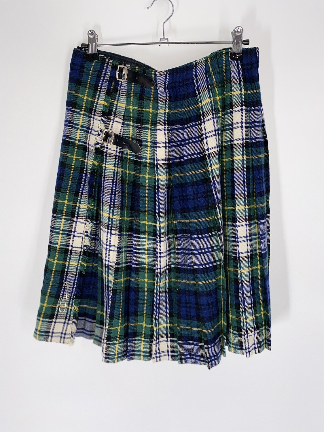 Plaid Belted Skirt Size M