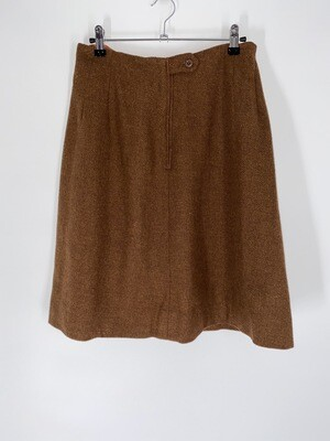 Brown Wool Skirt Size L