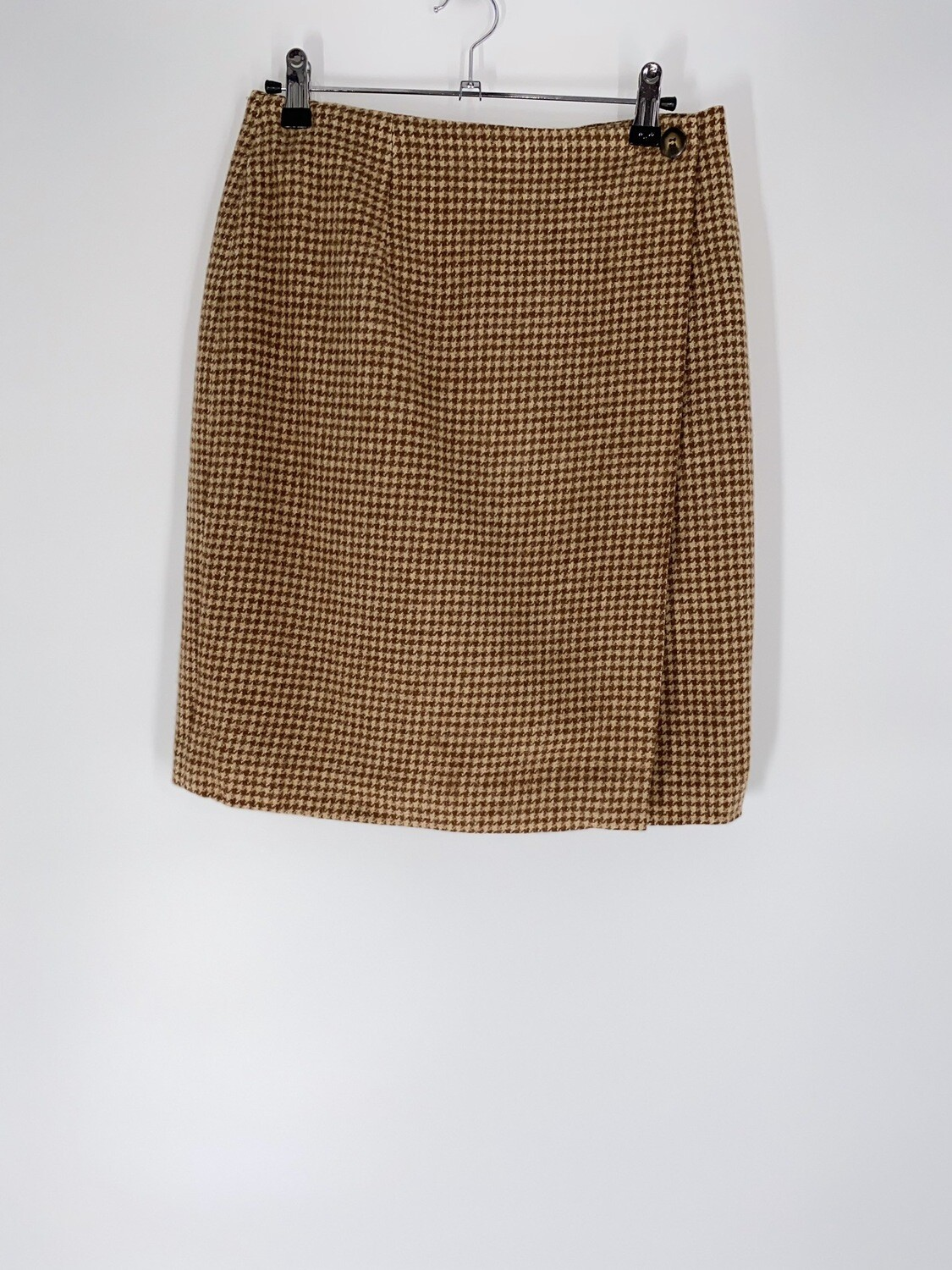 Brown Houndstooth Skirt Size M