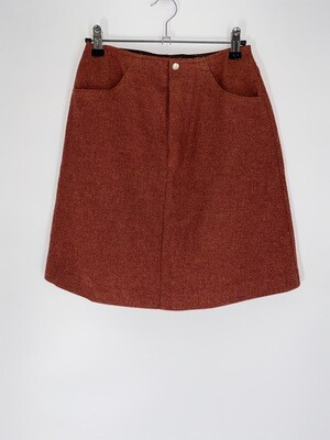 Brick Red Skirt Size S