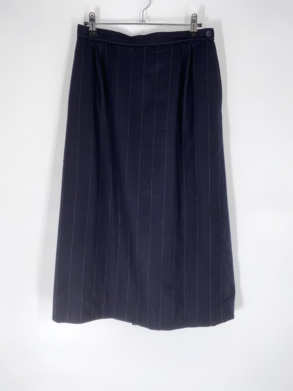Navy Pin Stripe Skirt Size M