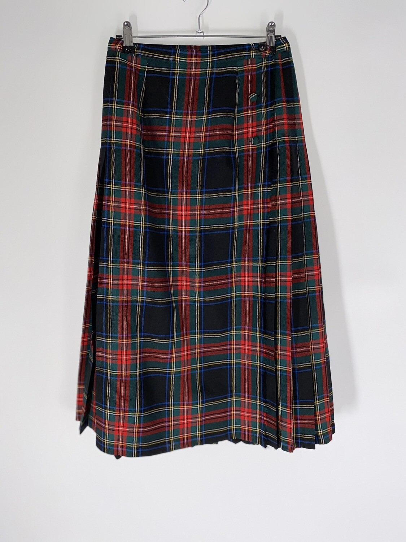 Pleated Plaid Skirt Size M