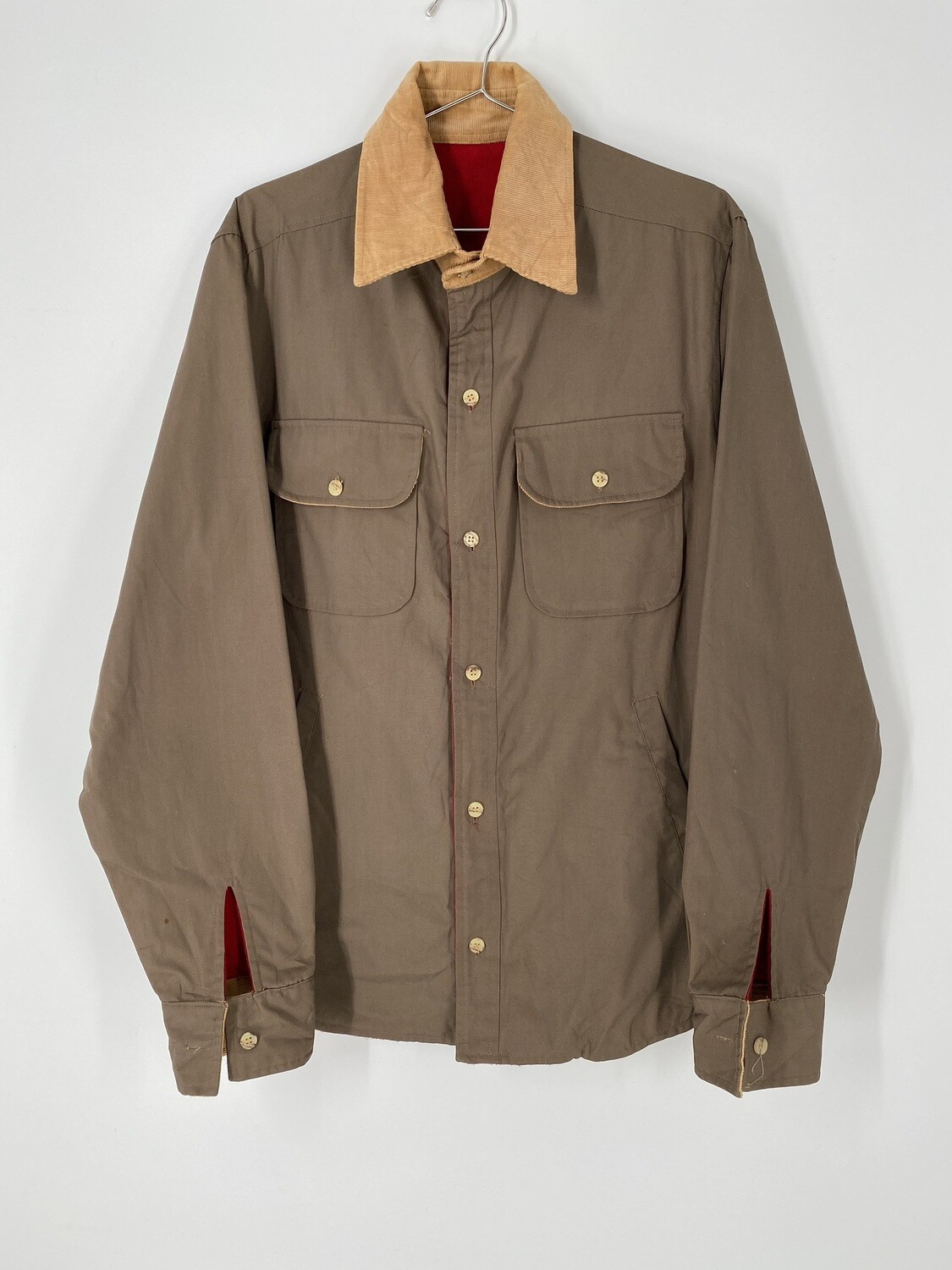 Brown And Corduroy Lightweight Jacket Size M
