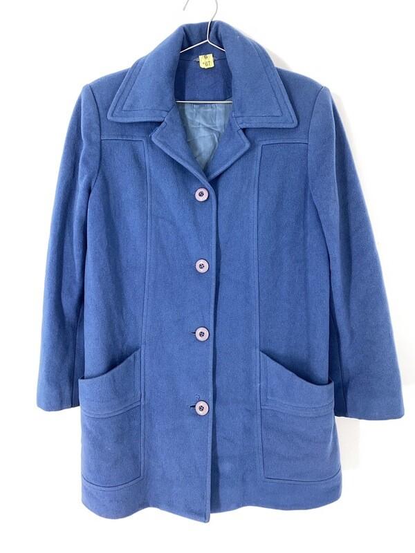 Soft Blue Mid Length Coat Size M
