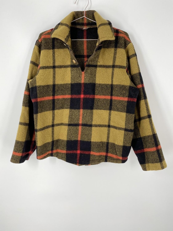 Woolrich Plaid Quarter Button Pullover Size M