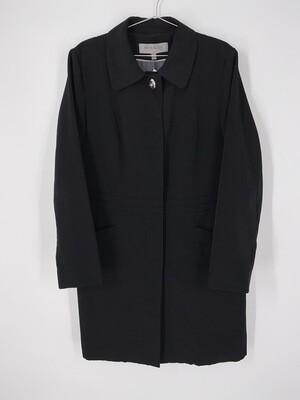 Anne Klein Black Mid Length Jacket Size M