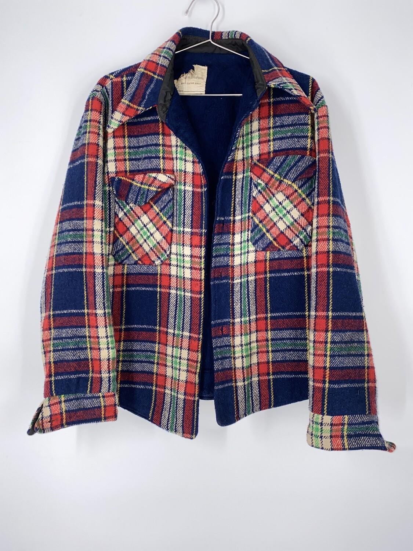 Vintage Flannel Shirt Jacket Size M