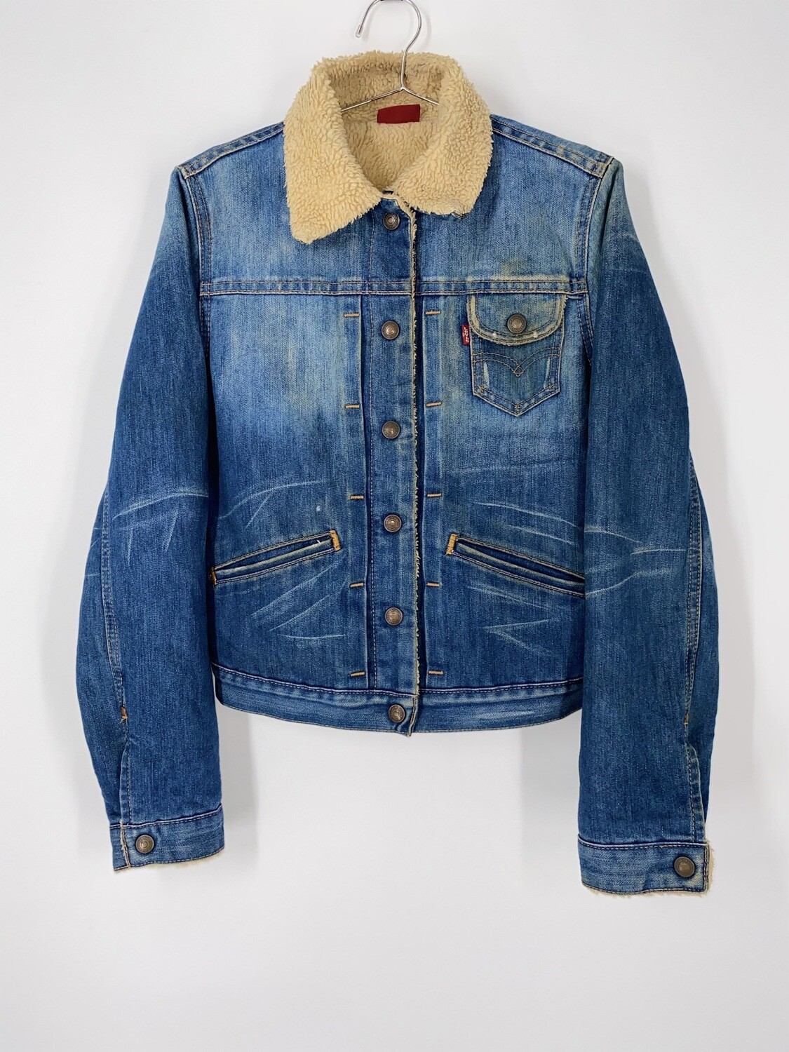 Levi's Fur Lined Denim Jacket Size S