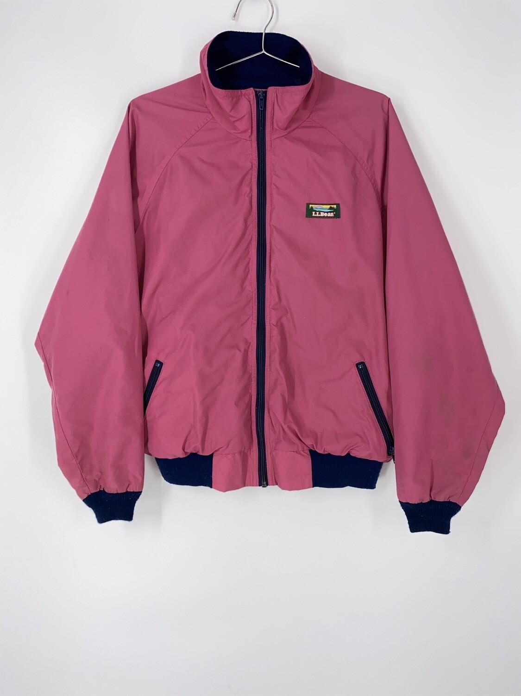 L.L. Bean Pink Zip Up Sports Jacket Size L