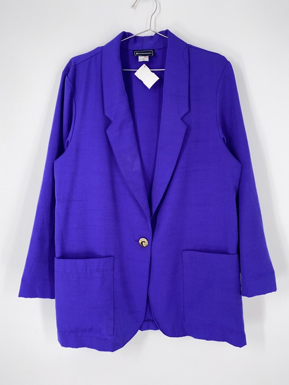 Requirements Bright Purple Blazer Size L