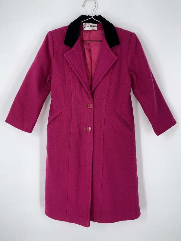Miss Bobbie Pink Quarter Sleeve Trench Size