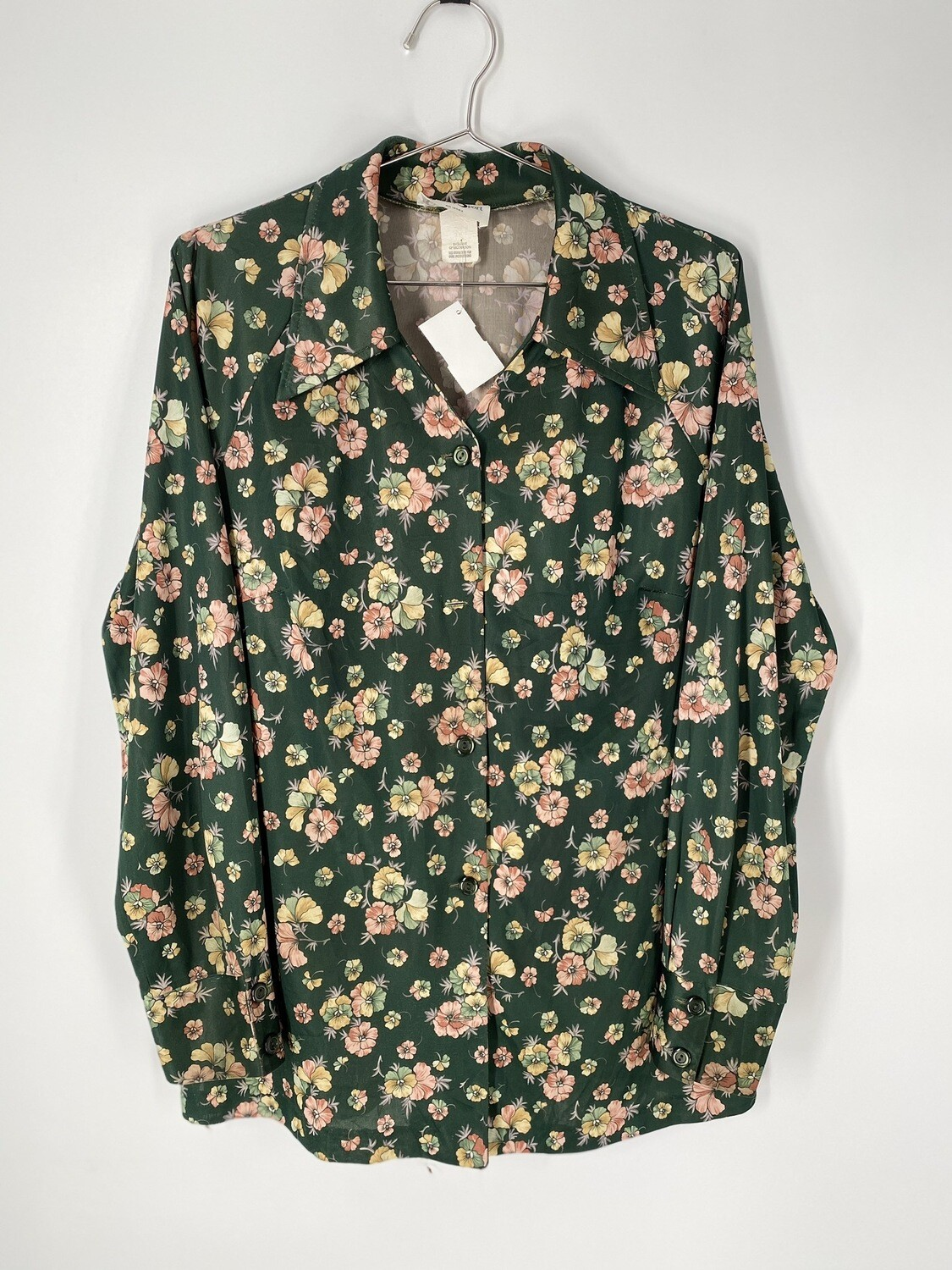 Shaker Sport Vintage Floral Button Up Size M