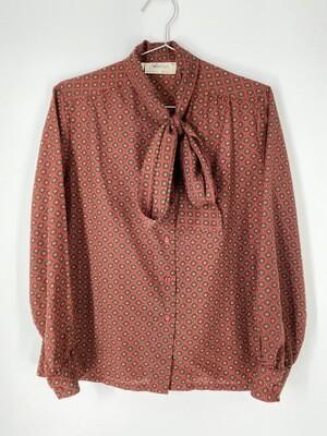 Adelaar Printed Bow Tie Blouse Size M