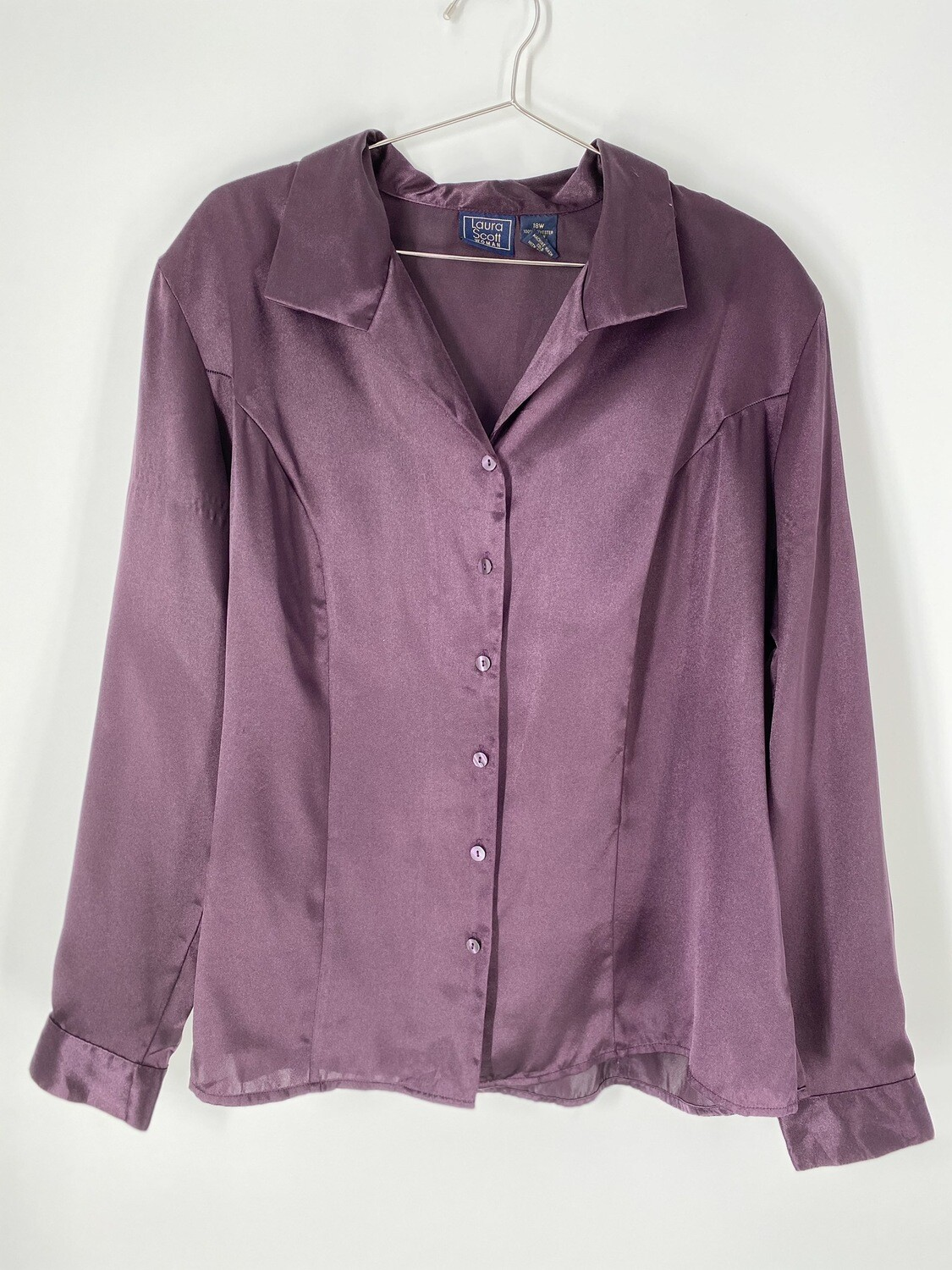 Laura Scott Deep Purple Button Up Size L