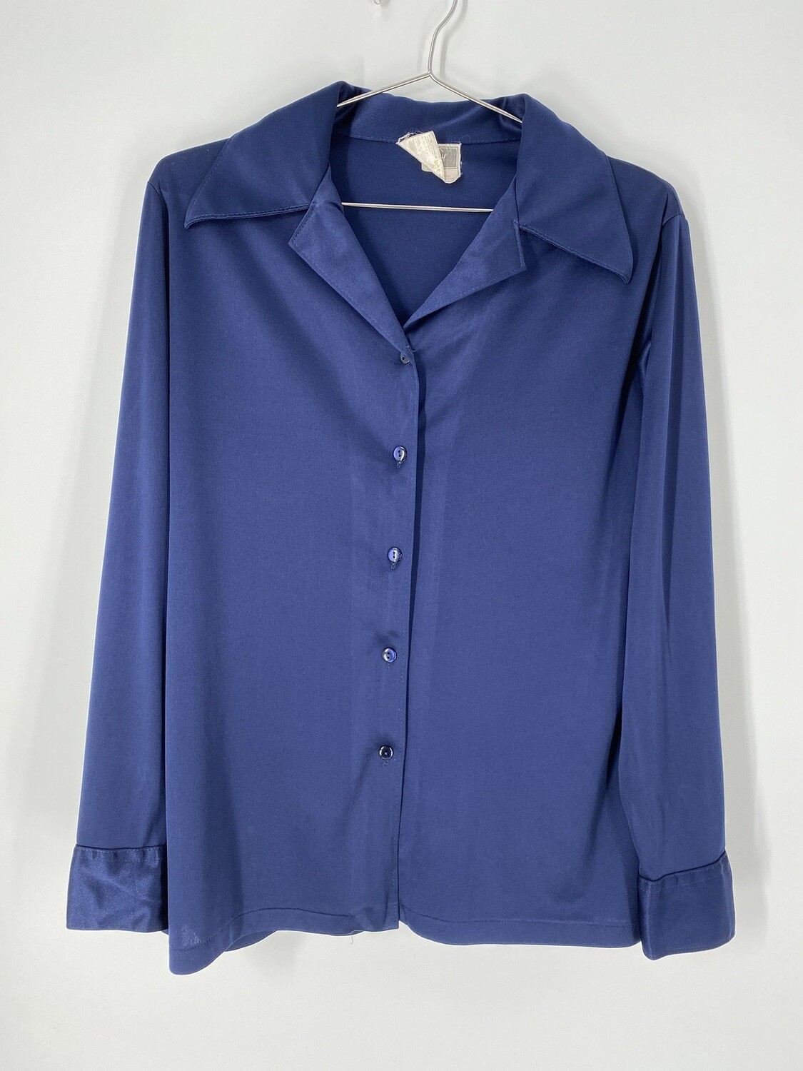Tan F Jay Blue Sheen Button Up Size Medium