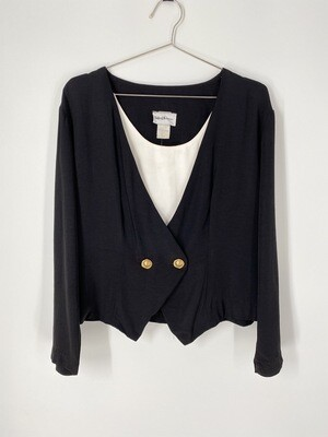 Natural Resources Double Buttoned Blazer Top Size M