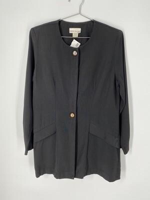 Decade Designs Black Blazer Top Size M