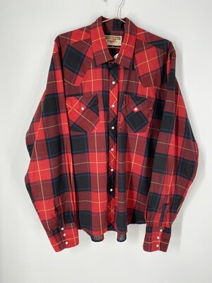 Authentic Western Youngblood's Flannel Size L