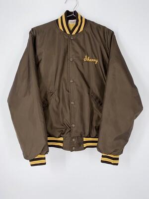 Birdie Brown Sherry Monogrammed Bomber Jacket Size S