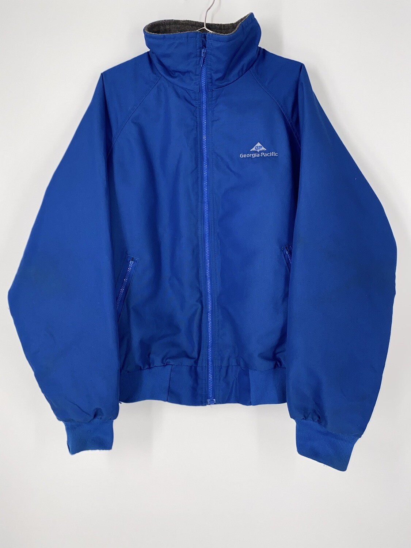 Sportsmaster Georgia Pacific Blue Zip Up Jacket Size L