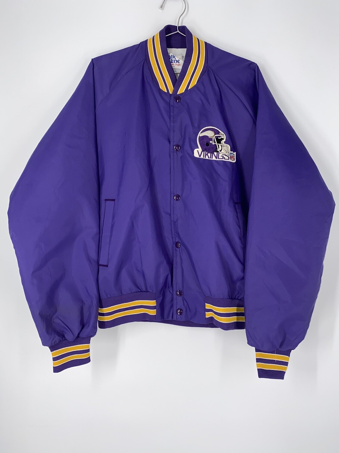Chalk Line Purple Vikings Football Bomber Jacket Size L