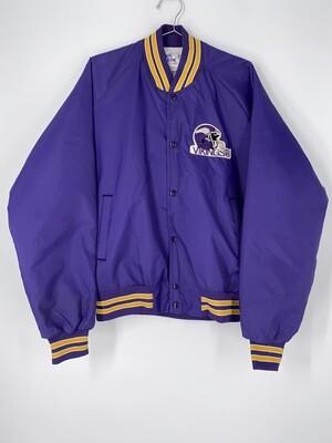 Chalk Line Purple Vikings Football Bomber Jacket Size L